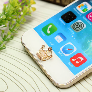 3D Leuke Pearl Home Button Sticker voor iPhone iPad iPod