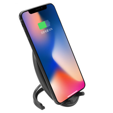 10W 2 Coils Qi Fast Wireless Charger With Cooling Fan For iPhone X 8/8Plus Galaxy S8/S8 Plus