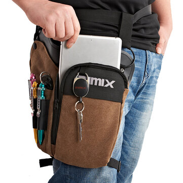 RIMIX Multi Functional Tactical Waist Pack Waterproof Canvas Tool Bag Outdoor Cycling Fishing Bag