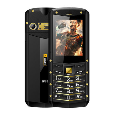 AGM M2 IP68 Waterproof 2.4'' 1970mAh Bluetooth FM Dual SIM Long Standby Dust-proof Feature Phone