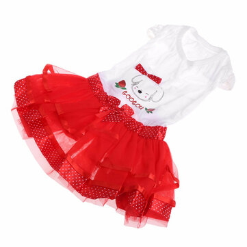 Summer Dog Dress Puppy Party Dress Bubble Fruit Doggy Colorful Skirts