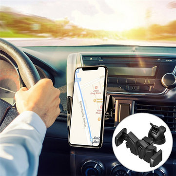 Universal 360 Degree Rotation Car Air Vent Holder Bat Mount Phone Stand Bracket for iPhone 8 Samsung