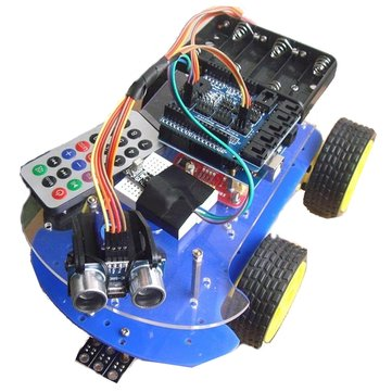 4 In 1 Smart Car Kit Tracking Obstacle Avoidance Fall Prevention Telecontrol