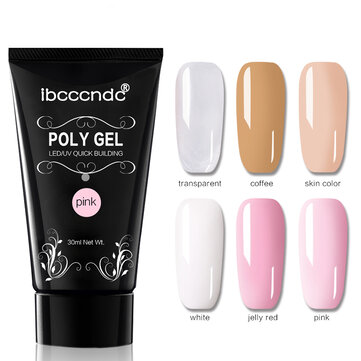 DANCINGNAIL Poly Gel Nail Extension 6 Colors Nail Builder UV Gel