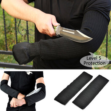1 Pair Steel Wire Safety Anti-cutting Arm Sleeves Gardening Outdoor Protection Tool