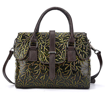 Women Original Casual Handbag Retro Rub Color Embossed Bag