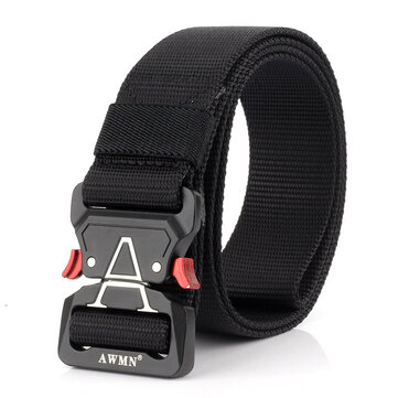 125cm AWMN S05-2 3.8cm Tactical Belt Inserting Quick Release Cobra Buckle Military Fan Hunting Nylon Belts
