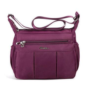 Mulit-pockets Nylon Lichtgewicht schoudertassen Crossbody-tassen voor dames
