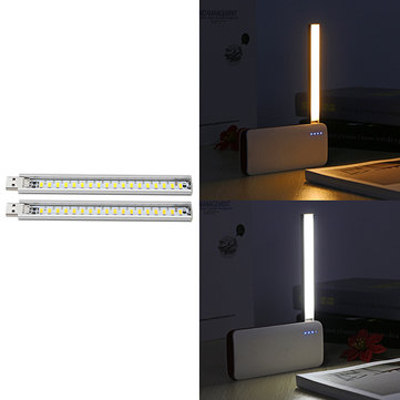Portable Mini 2.5W USB 18 LED Reading Night Light Strip for Power Bank Computer Laptop