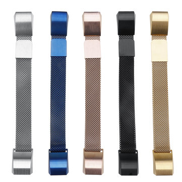 S Size Milanese Loop Stainless Steel Bracelet Watch Band For Fitbit Alta Strap Alta HR Band