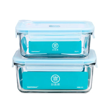 XIAOMI MIUI Kitchen Falling Resistant Glass Fresh Keeping Box Students Portable Lunch Box