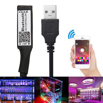 DC5-24V 12A USB Smart RGB LED Bluetooth Controller for 3528 5050 Strip Light