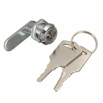 16mm Keyed Alike Cam Lock For Filing Cabinet Mailbox Drawer Cupboard with 2 Keys