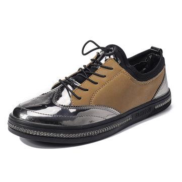 Zapatillas de deporte de hombre Zapatillas de deporte de cuero de microfibra con cordones