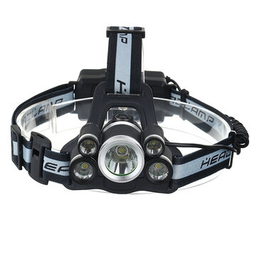 BIKIGHT 1700LM 5T6 LED 5 Modes 18650 USB Rechargeable Bike Headlamp with SOS Help Whistle