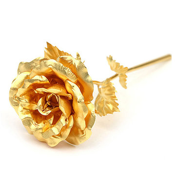24K Gold Foil Rose Valentine's Day Gift Romantic Delicate