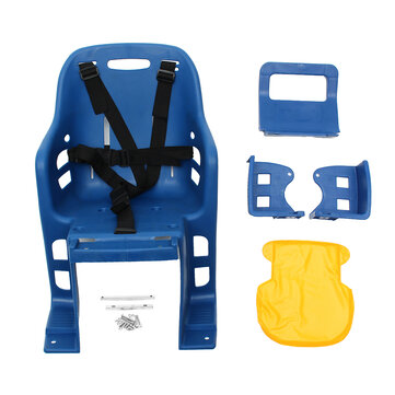 Kids Safety Cycling Seat Back Seat Mat Child Bicycle Saddle Traveling Bike Chair With Cushion Armrest Rear Footrest