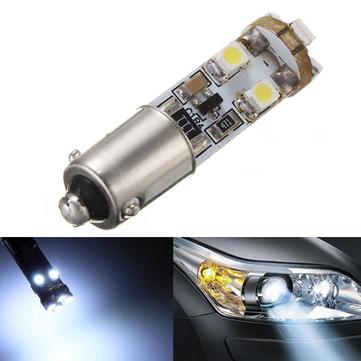 180 Degrees 1156 BA9s 6000K 1210 8SMD Super White LED Bulbs Mercedes Parking Light Plate