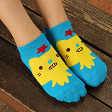 1Pair Women Girls Socks Warm Cotton Blend Cartoon Animal Pattern Cute Hosiery