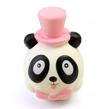 Squishy Mr Panda Hat Bow Tie Jumbo 14cm Slow Rising Collection Gift Decor Toy