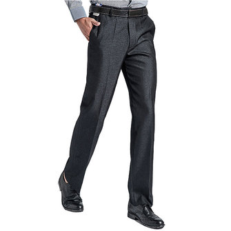 Men's Business Casual Suit Pants Pure Color Thin Professional Straight Dress Suit Pants