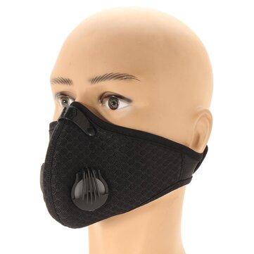 Masque anti-poussière respirant de filtre à charbon actif respirable de tissu de maille de nid d'abeilles