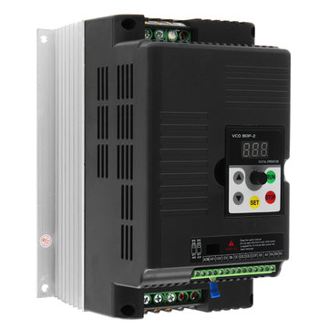 5.5KW 220V 3 Phase Output Variable Frequency Inverter Vector Motor Speed Drive