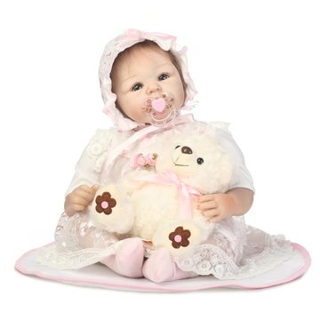 NPK 50CM Collective Reborn Baby Doll Toys Full Silicone Vinyl Babies Girl Action Figure Toy