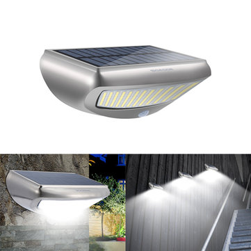 Solar Power PIR Motion Sensor Wall Light Waterproof Outdoor Garden Security Lamp
