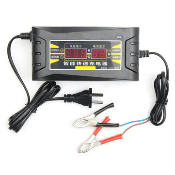 12v 6a Smart Fast Battery Charger For Car Motorcycle Lcd Display Selected 1 Items Total Price