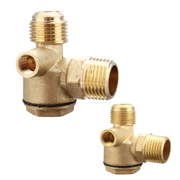 3 Way Air Compressor Spare Parts Male Female Threaded Check Valve Tube Connector