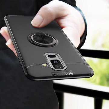 C-KU 360º Rotating Ring Grip Kicktand Protective Case For Samsung Galaxy A6 Plus 2018