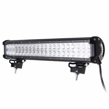 20Inch 126W 42LED Spot Flood Beam Combo Work Driving Light Bar For Jeep SUV ATV