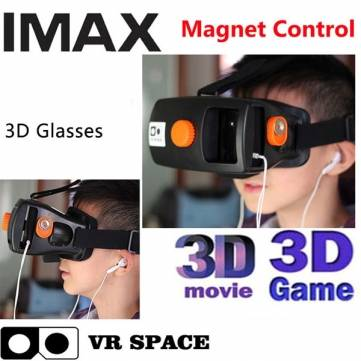 VR Space Plastic Virtual Reality Magnet 3D Glasses Google Cardboard Oculus Rift for Smartphone