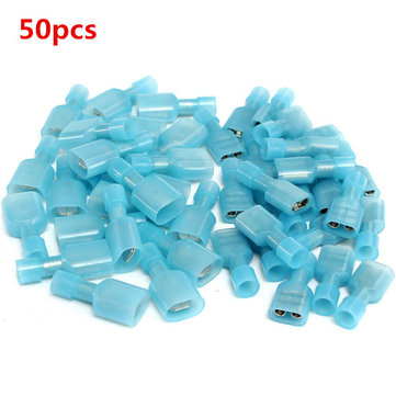 50pcs Female/Male Insulated Crimp Terminals Wire Connector 16-14 AWG Gauge