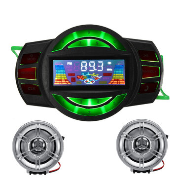 Motorcycle Handlebar USB SD FM Radio MP3 Speaker with Bluetooth Function