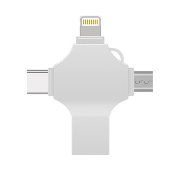 4 in 1 Multifunctional OTG USB Disk Type-c Lightning-Android USB3.0 Encrypt Flash Drive for Xiaomi