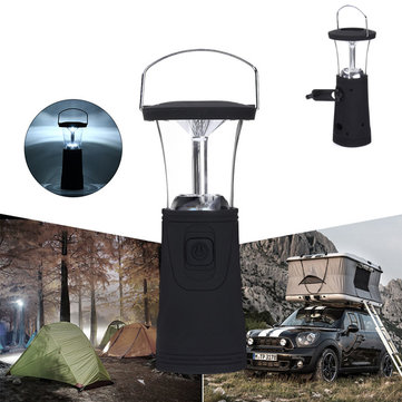Hand-cranked Solar Power Light Multi-purpose Emergency LED Lamp Outdoor Camping Lantern