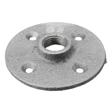 1/2 Inch Sliver Malleable Threaded Floor Flange Iron Plumbing Pipe Fitting