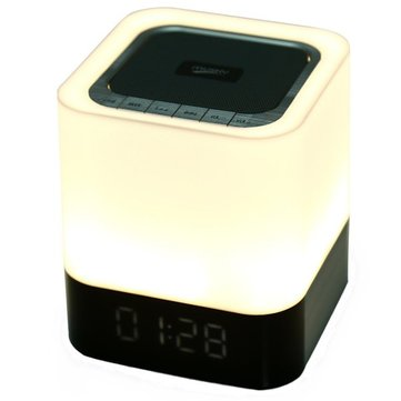 MUSKY DY28 Portable Wireless Bluetooth Stereo Speaker With Alarm Clock Touch Lamp