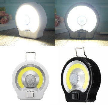 PIR Motion Sensor Induction LED Night Light COB Magnet Flashlight Work Lamp for Path Bedroom Kitchen