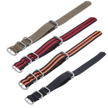 KALOAD 18/20/22/24mm Multicolor Durable Smart Watch Band Military Nylon Bracelet Strap Replacement