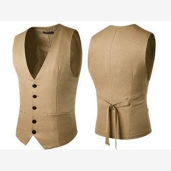 Formal Business Gentleman Slim Fit Waistcoat Men Suit Vest