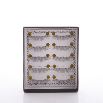 5 Pairs/Set Handmade False Eyelashes Natural Nude Makeup Dense Three-dimensional CosmeticThick
