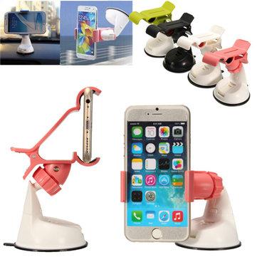 Evrensel 360 ° Döndürme Araba Telefon Tutacağı Rüzgar Kalkanı Suction Mount Stand for iPhone Samsung