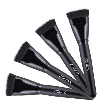 Zoreya Foudation Black Brush Blush Loose Powder Fiber Hair Face Makeup Comestic Kit