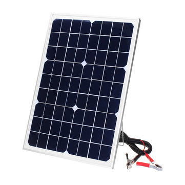 DC 12V 20W 42 X 28 CM Polycrystalline Solar Panel with 3M Alligator Clip Wire