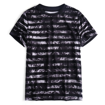 Men's Fashion Printed Striped Soft Fabric T-Shirts