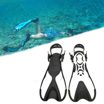 Adult Swimming Fins Snorkeling Foot Flipper Floating Training Fins Swimming Paddles Water Sports