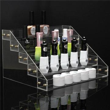 5 camadas de 40 garrafas de acrílico prego exibição polonês rack de suporte organizador titular verniz cosmético